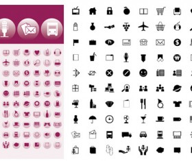 Simple graphic icons vector