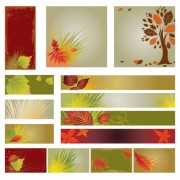 Link toAutumn banner background vector graphic