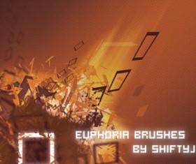 Euphoria Brushes  Grunge Set of vector Brush Pack Photoshop Brushes