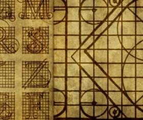 Roman Letters Diagrams Photoshop Brushes