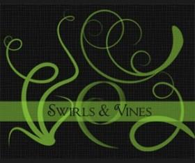 Swirls & Vines Photoshop Brushes