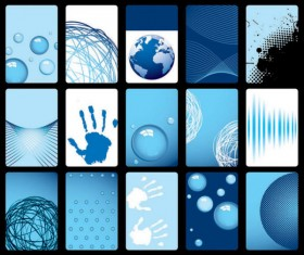 blue background card vector