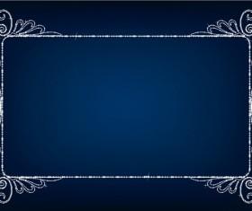 Beautiful diamond Border vector