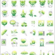 Link toGreen cute icon vector