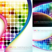 Link toAbstract colored grid background vector