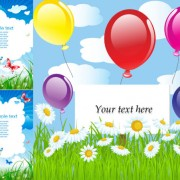 Link toSummer card background vector graphic