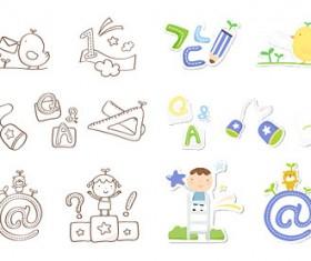 Cute Icon 2 vector