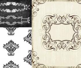 Retor ornaments design vector