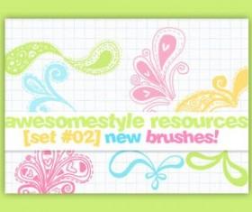 Awesome style Photoshop Brushes
