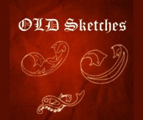 Old Sketches Photoshop Brushes