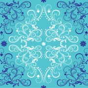 Link toBlue with white floral ornaments  vector