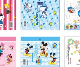 Cartoon pencil wrapping paper
