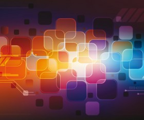 Colorful box background design vector