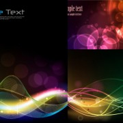 Dynamic light lines background vector