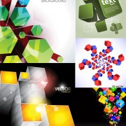 Creative cube background vector graphic