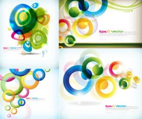 Abstract colored circular pattern art vector