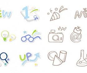 Cute icon 5 vector