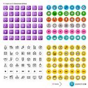 Link toLine graphic icons vector