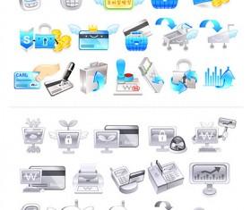 Financial style icon vector