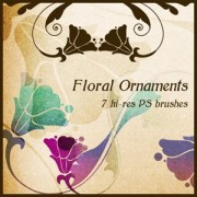 Link toFloral ornaments photoshop brushes