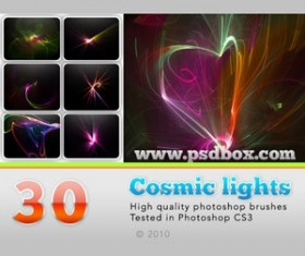 Cosmic lights Photoshop Brushes