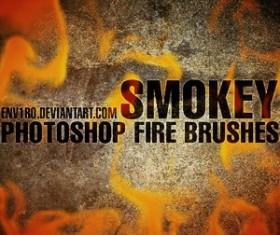 SMOKEY Fire Photoshop Brushes