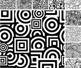 Black and white graphics background Vector Graphic