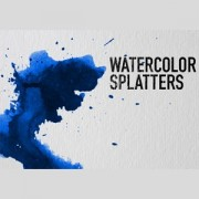 Link toWatercolor splatters photoshop brushes