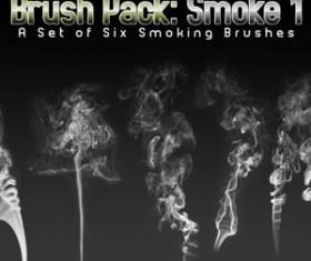 Six Smoke Photoshop Brushes