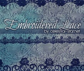 Embroidered Lace Photoshop Brushes