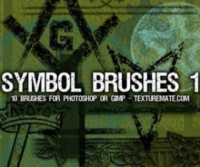 Symbols 1 Brush Pack Photoshop Brushes