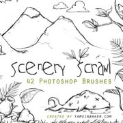 Link toScenery scrawl photoshop brushes
