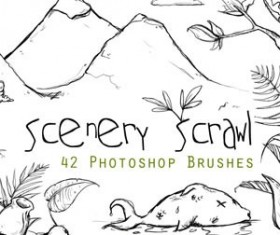 Scenery Scrawl Photoshop Brushes