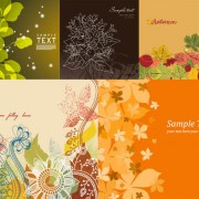 Link toFlowers and plants background vector