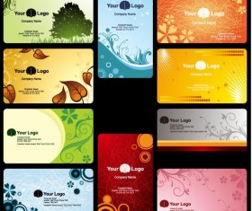 Leaves Floral business card Vector Graphic