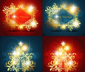 Bright decorative pattern background vector material