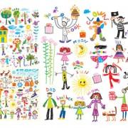 Link toOf happy children background vector art