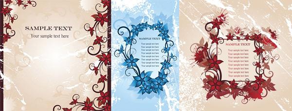 flower border fashion vector
