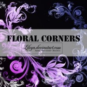 Link toFloral corners photoshop brushes