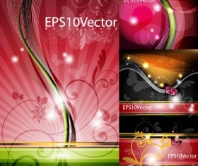 Abstract colored decorative pattern background Vector Graphic