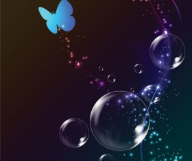 Colorful bubble background 02 vector set