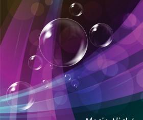 Colorful bubble background 04 vector set