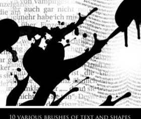 Text and Shapes Photoshop Brushes