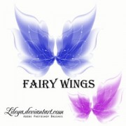 Link toFairy wings photoshop brushes