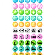 Link toOlympic icons 2 vector