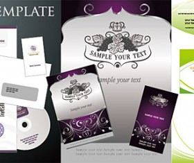 Business cards and stationery mold vector graphic