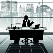 Link toVector silhouettes of office work set 05