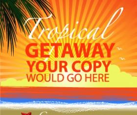 Travel poster design template vector 03