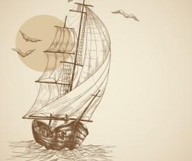 Vector Sailing vessels set 05