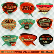 Link toRetro style speech bubble labels 04